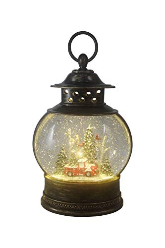 ReLive Christmas Light-Up Snow Globe Lantern – Red Truck and Trees