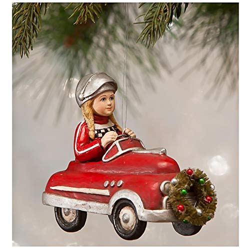Bethany Lowe Casey in Race Car Red Hot Rod Christmas Retro Vintage Decor Ornament