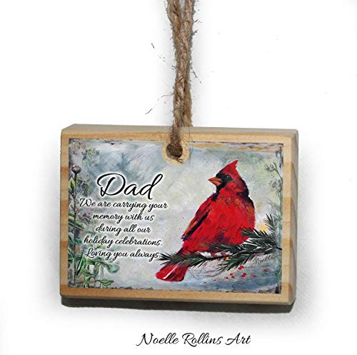 Dad remembrance Christmas ornament with poem