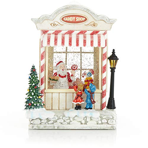 ReLive Christmas Light-Up Snow Globe – Santa Candy Shop