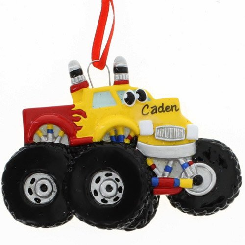 Rudolph and Me Monster Truck Ornament