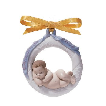 LLadro Baby's First Christmas 2003 Dated Ornament