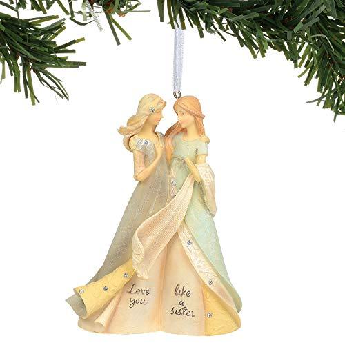Enesco Foundations Like a Sister Angel Ornament, 4.75″, Multicolor