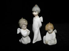 Lladro Porcelain 1604 Miniangelitos Three Figurines in Set