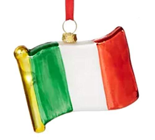 Holiday Lane World Traveler Italian Flag Ornament