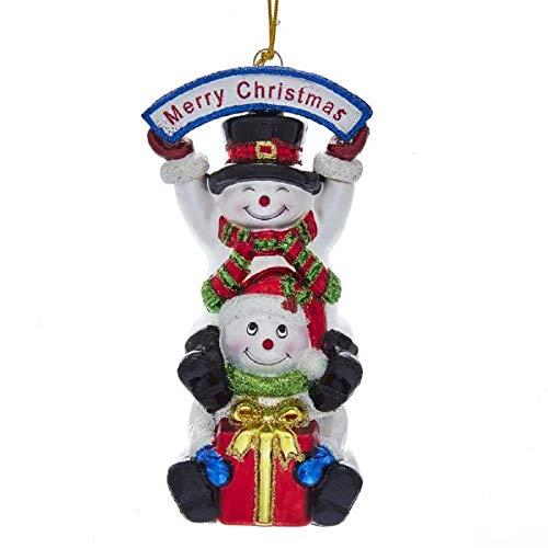 Kurt Adler Noble Gems Stacked Snowman Ornament