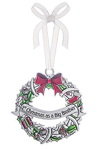 Ganz 1st Christmas Ornament as a Big Brother Zinc Ornament
