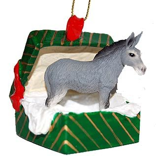 Conversation Concepts Donkey Gift Box Christmas Ornament – Delightful!