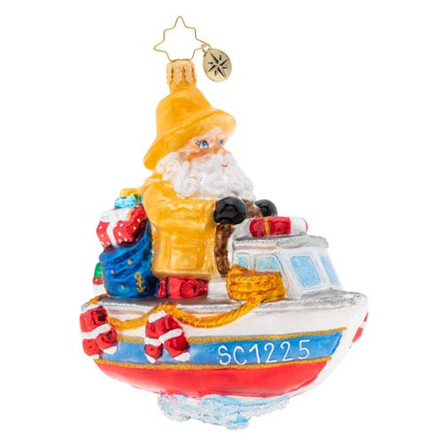 Christopher Radko We're Gonna Need A Bigger Boat Christmas Ornament, Multicolor