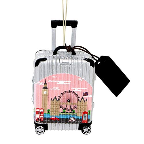 Noble Gems London Christmas Ornament Resin Luggage Suitcase