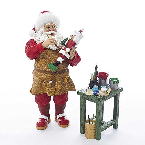 Kurt S. Adler 10.5″ Nutcracker Workshop Santa Figure (Set of 2), 2 Piece