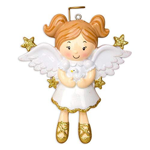 Polar X Angel with Dove Personalized Christmas Ornament