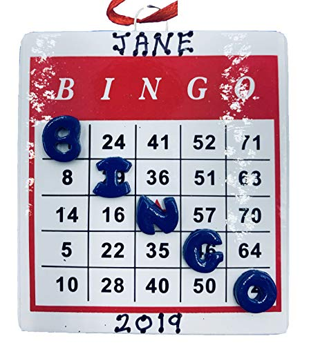 Rudolph and Me Personalized Bingo Christmas Ornament 2019