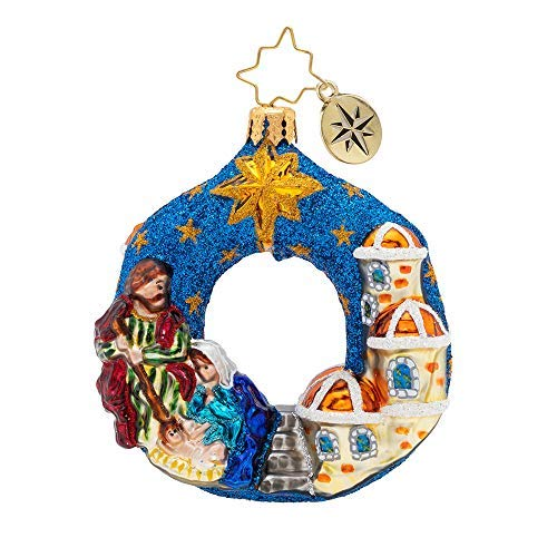 Christopher Radko North Star Gem Christmas Ornament, Blue
