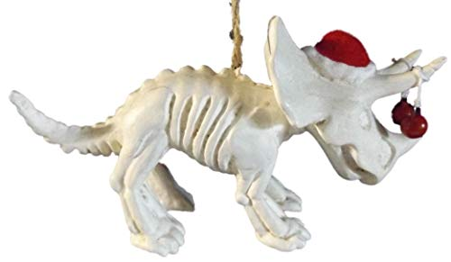 One Hundred 80 Degrees Triceratops Skeleton with Santa Hat