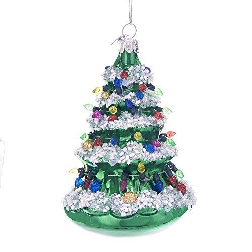 Kurt Adler 5″ NOBLE GEMS GLASS XMAS TREE ORNAMENT
