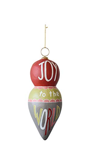 "Creative Co-Op 20 Inch Paper Mache ""Joy"" Ornament"