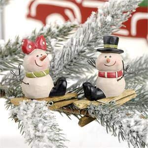Blossom Bucket 198-50000 S-2 Snowmen ON Clip Ornaments, Small, Multi-Colored