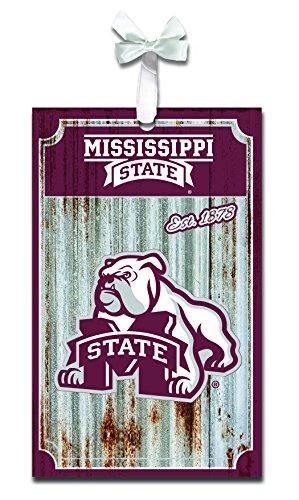 Team Sports America Mississippi State University Corrugated Metal Ornament