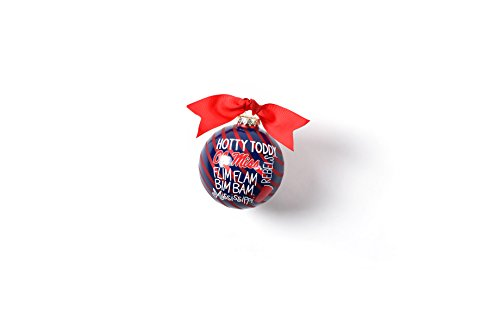 Coton Colors 100 MM Ole Miss Word Collage Glass Ornament