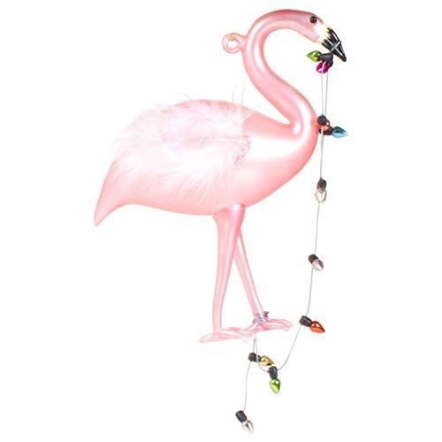 8 Oak Lane Cheery Pink Flamingo Lights 7 inch Glass Decorative Hanging Ornament