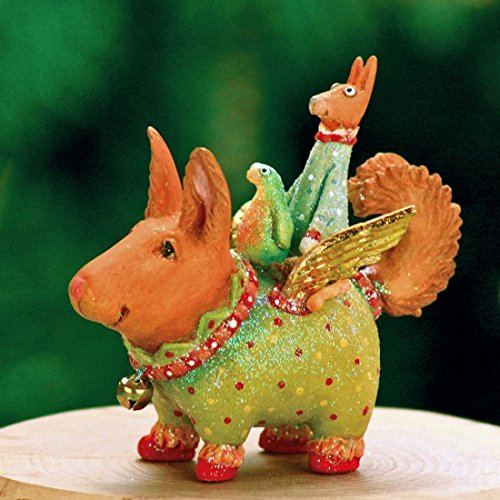 Patience Brewster Mini Terrier Carrier Christmas Figural Ornament 08-30414