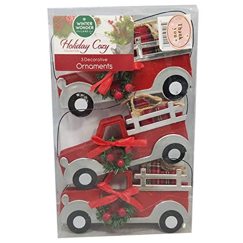 Winter Wonder Lane Assorted Christmas Seasonal Holiday Ornaments (Truck)