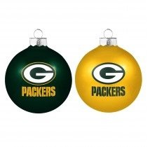 NFL Home and Away Ornament (Set of 2) NFL Team: Green Bay Packers