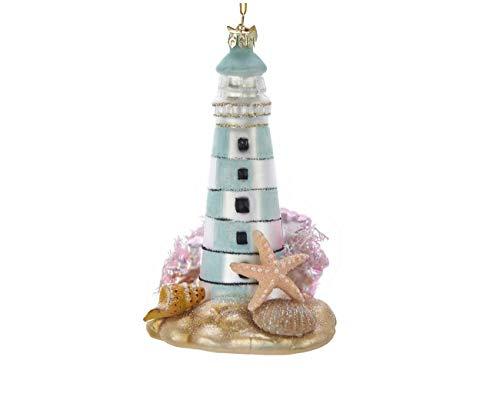 Kurt Adler 5-inches Tall Noble Gems Glass Lighthouse Ornament