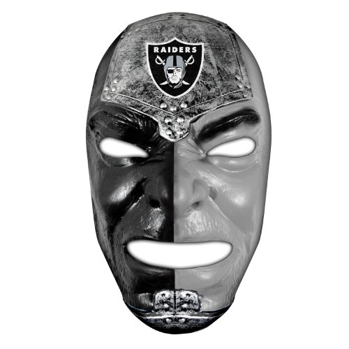 Franklin Sports Oakland Raiders NFL Fan Face Mask – Team Fan Masks for NFL Football Games and Tailgates – Sports Fan Face Mask – Face Paint Masks