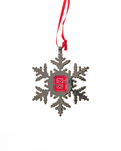 Collegiate Pulse North Carolina State (NC State) UNIV Wolfpack NCAA Snowflake Christmas Ornament