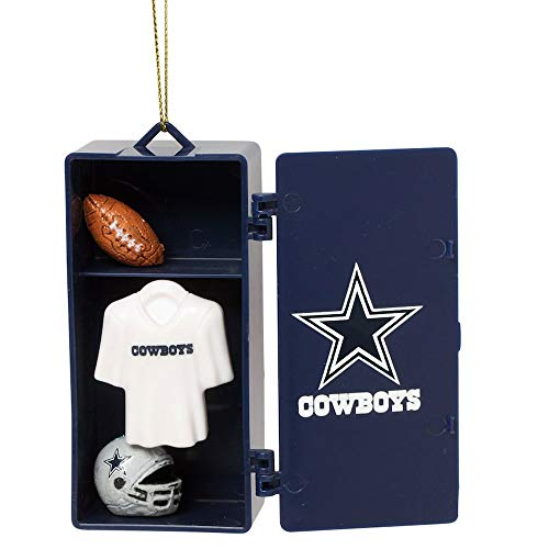 Licensed NFL, NCAA & NHL Locker Ornaments with Working Locker Door and Miniature Player Gear Inside (NFL-Dallas Cowboys)