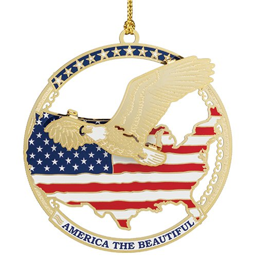 America The Beautiful Ornament