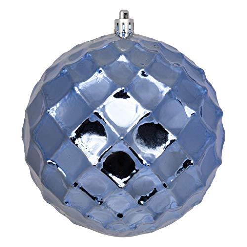 Vickerman 568743-4″ Periwinkle Shiny Diamond Bauble Ball Christmas Tree Ornament (6 pack) (N174129D)