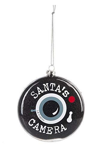 GANZ 4-inch Glass Santa's Camera Lens Ornament