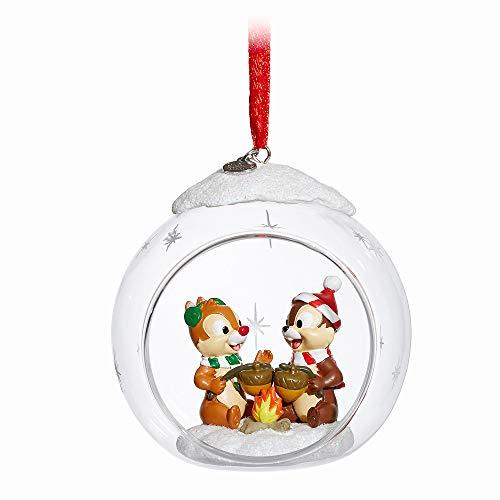Disney Chip 'n Dale Glass Globe Sketchbook Ornament