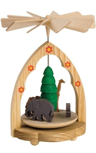 Alexander Taron Importer Richard Glasser Zoo Scene Mini Pyramid Ornament