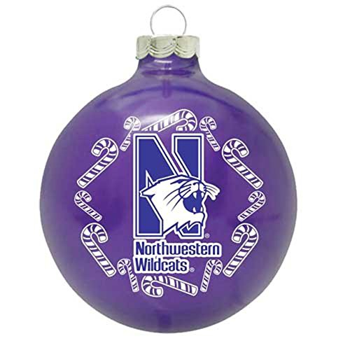 Topperscot Northwestern Wildcats Traditional 2 5/8 Ornament – Purple,