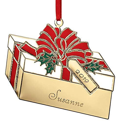 Fox Valley Traders Personalized Brass Present Ornament