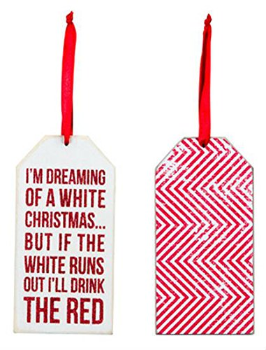 I'm Dreaming of a White Christmas Wine Bottle Tag