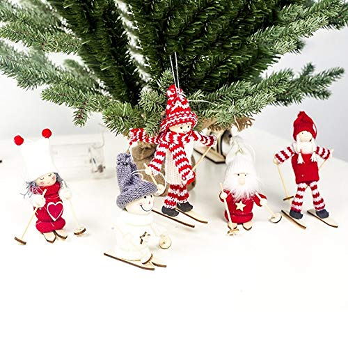 Best Design 5 Pcs Christmas Figurine Toy Tree Ornaments Kids Gifts, Glass Ornament Elephant – Christmas Deer Figurines, Ceramic Ornaments, Mark Ornament, S Christmas Tree Ornaments, Snowman Figurines