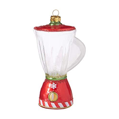 RAZ Imports Blender Red Glittered 5 Inch Glass Christmas Ornament Figurine