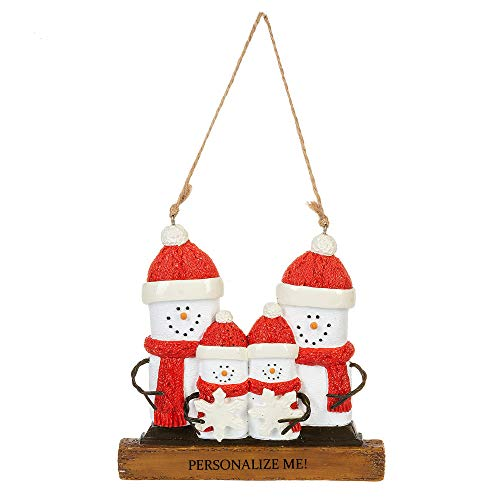Midwest CBK Smiling White Smore's Family of 4 4 x 4.5 Resin Decorative Hanging Ornament