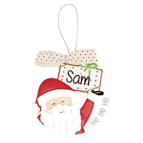 MUDPIE Santa Personalized Ornament