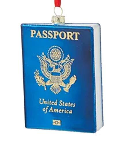Holiday Lane World Traveler American Passport Ornament