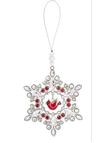 Ganz Cardinal Snowflake Ornament
