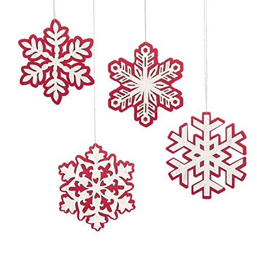 Midwest Snowflake Ornament, Set of 4