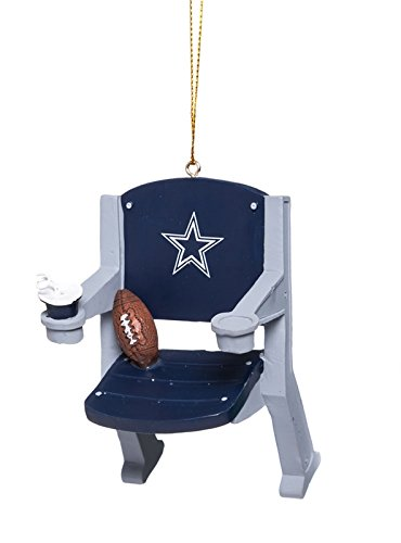 Team Sports America Dallas Cowboys Stadium Chair Ornament, Set of 2