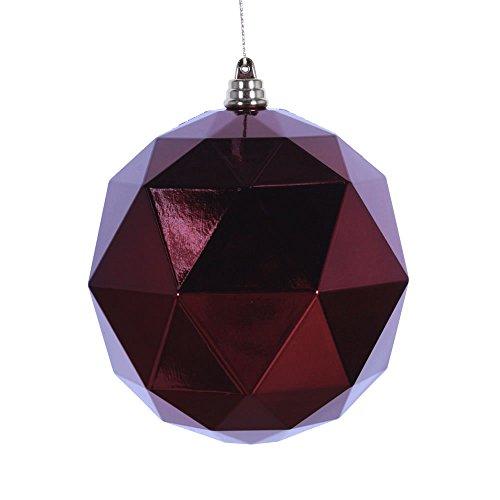 Vickerman Ball Ornament, 4.75″, Burgundy