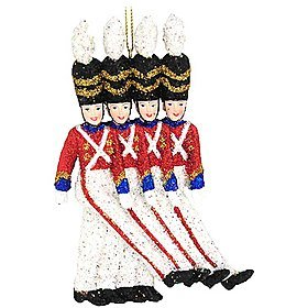 Kurt Adler 6-Inch Radio City Rockette Soldiers Christmas Ornament